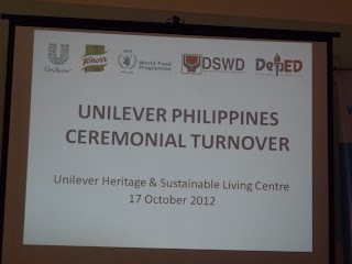 Ceremonial Cheque Turnover Of Unilever Phils. To WFP