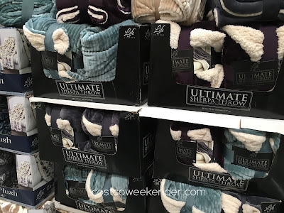 Stay warm when it's chilly with the Life Comfort Ultimate Sherpa Throw Blanket