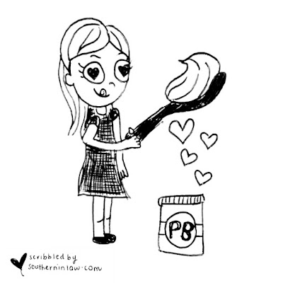 Kristy the Peanut Butter Addict Cartoon