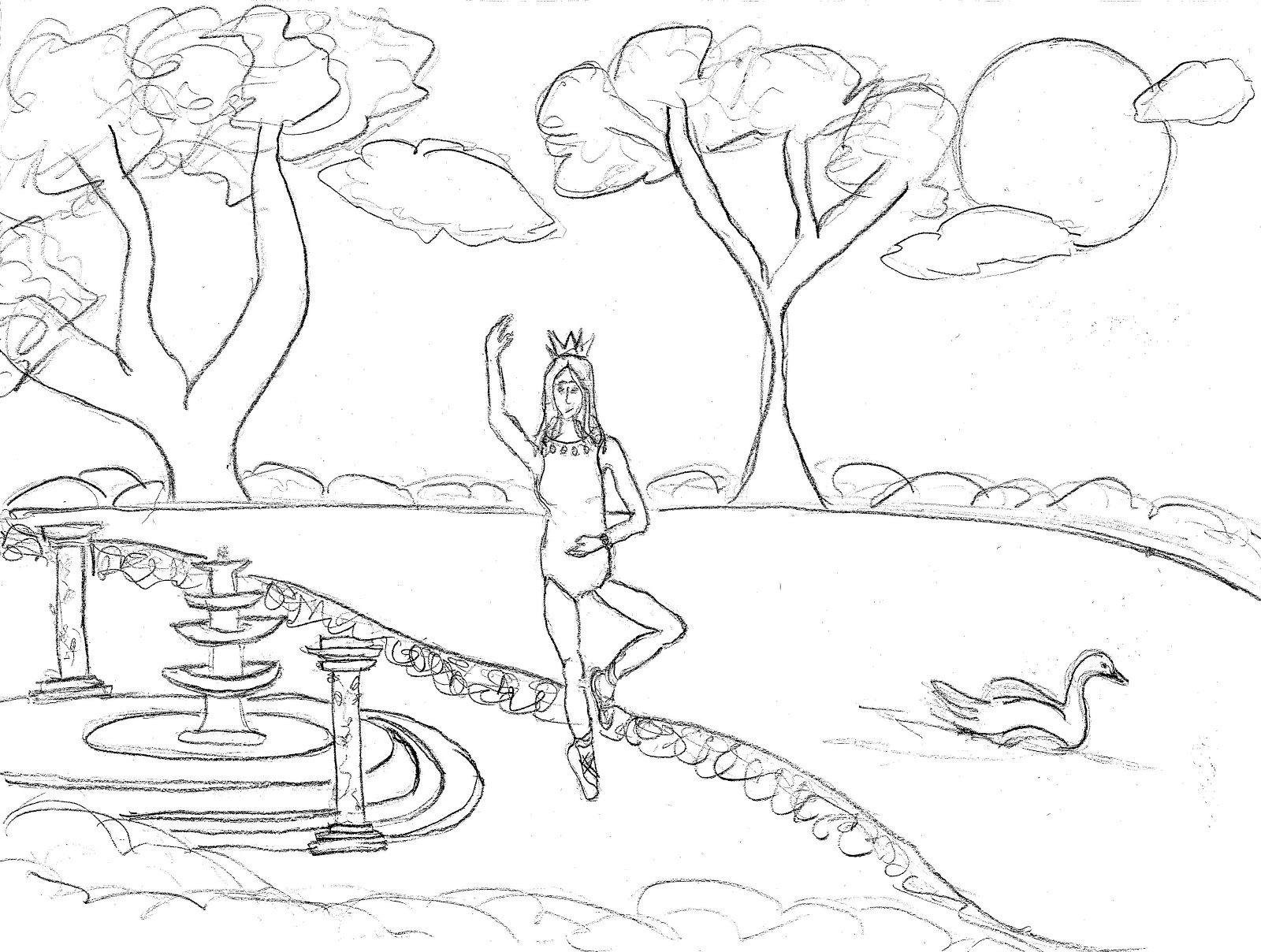 Barbie of swan lake coloring pages ~ Swan Lake Ballet Coloring Pages