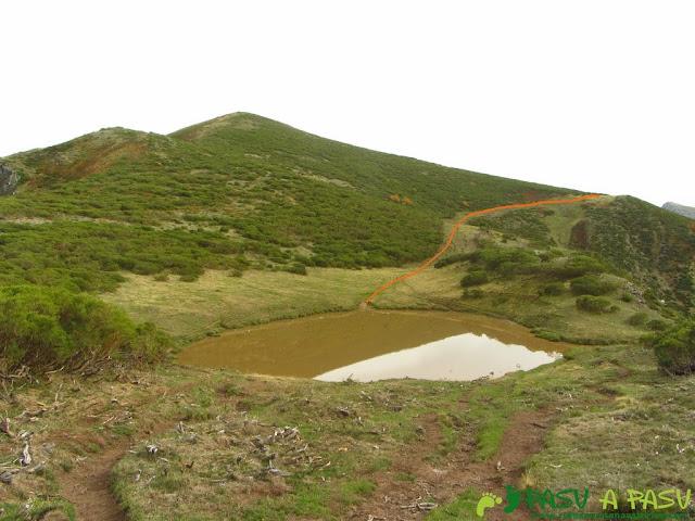 Laguna sin nombre en el Páramo