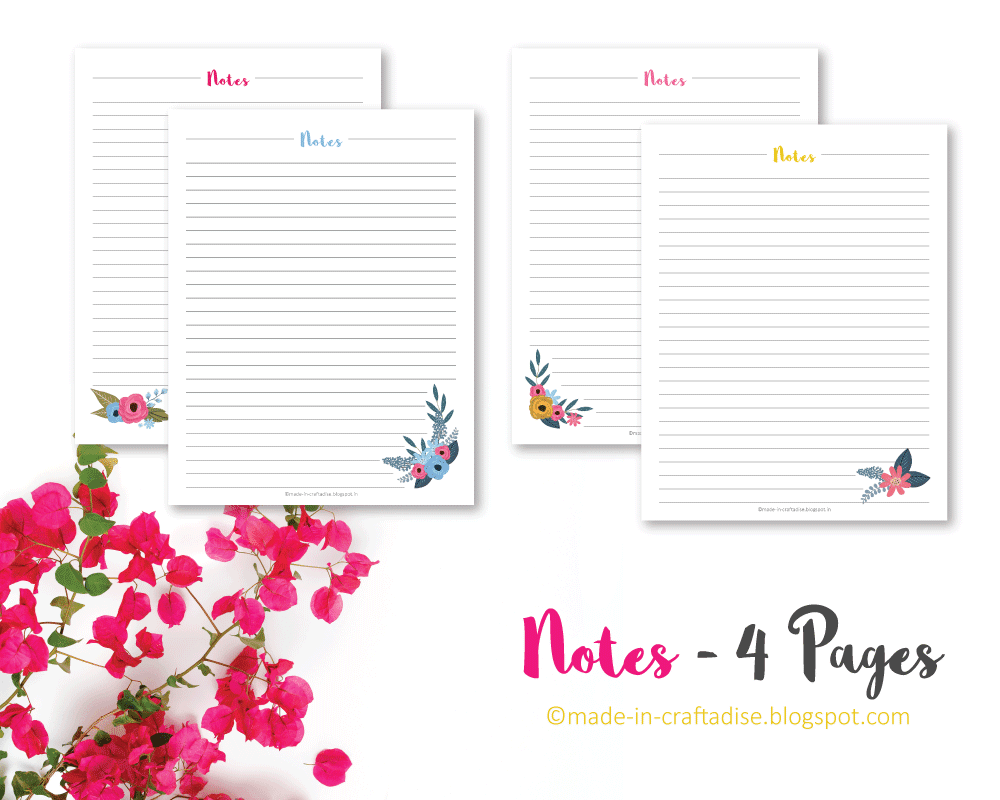 Notes Printable Planner PDF