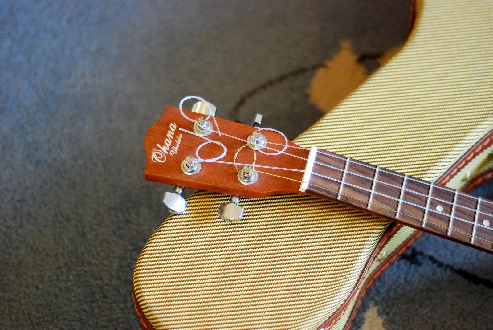 Ohana TKS-15E ukulele headstock