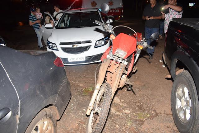 Homem fica ferido em acidente em Jandaia do Sul