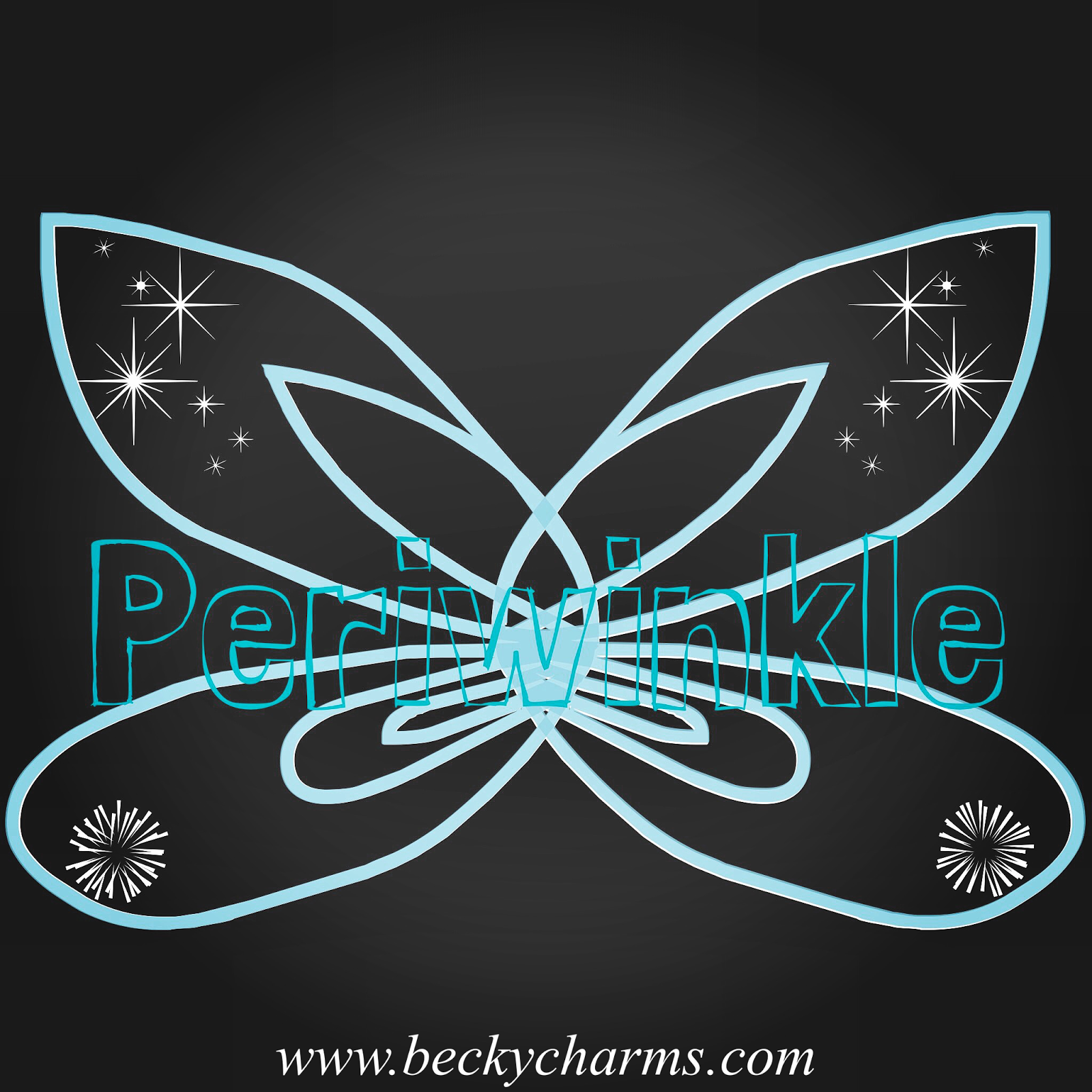 Disney Fairy Wings Periwinkle Graphic Art Recreate by BeckyCharms