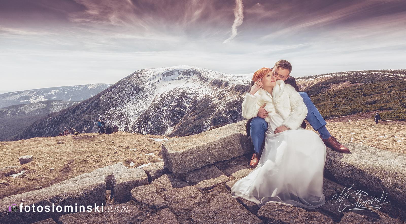 Sesja ślubna w Górach - Śnieżka, Karpacz. Majówka 2016 - Fotografia ślubna fotoslominski.pl