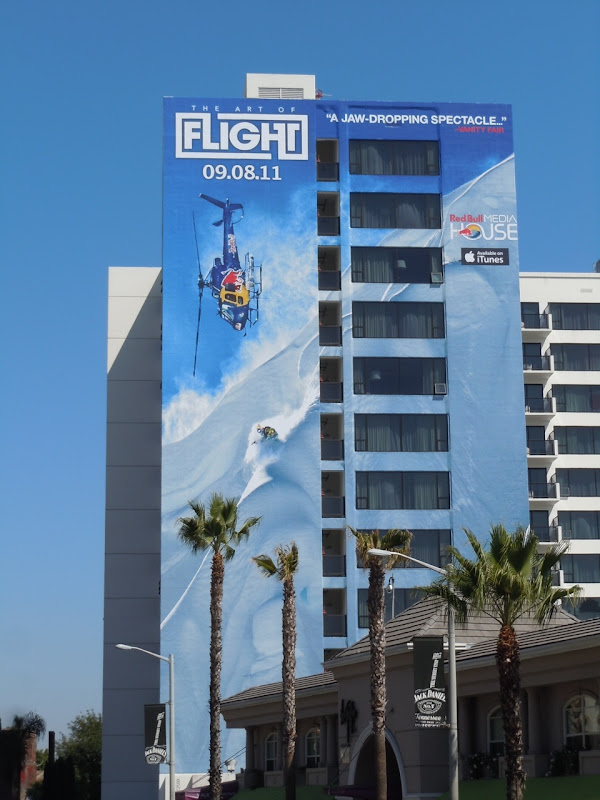 Red Bull Art of Flight movie billboard