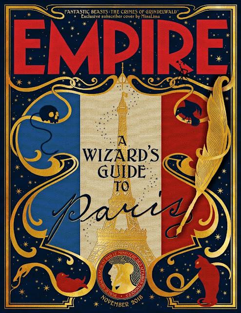 Um Guia Mágico de Paris inspira capa especial para assinantes da revista Empire sobre 'Os Crimes de Grindelwald' | Ordem da Fênix Brasileira