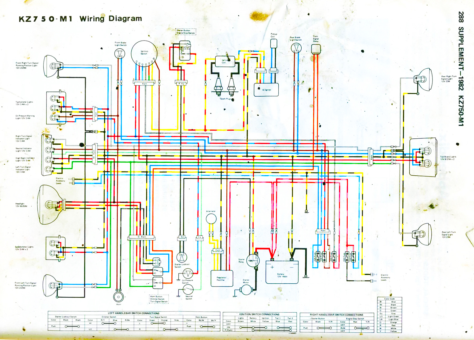 Battery Wiring Diagram With Kickstart Control Xl350 82 Kz750 Get Free Image About