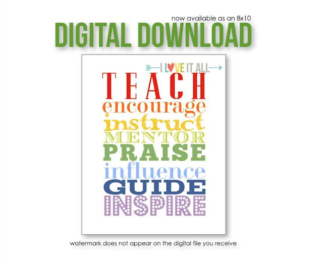 #teacher #teach #inspire #praise #encourage #mentor #instruct #Teacher Art #Teacher Appreciation Gift #Teacher Graduation Gift #guide