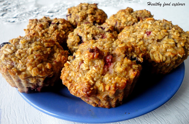 Muffinki owsiane z owocami