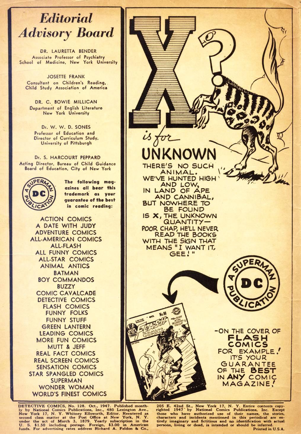 Read online Detective Comics (1937) comic -  Issue #128 - 2