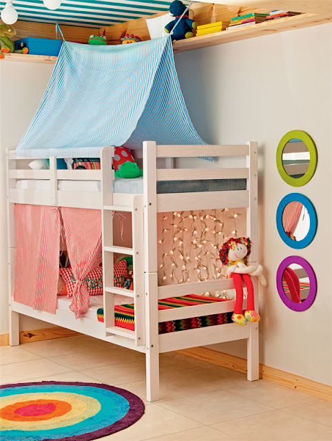 Dormitorio peque o para ni o y ni a - Habitaciones para ninos de dos anos ...