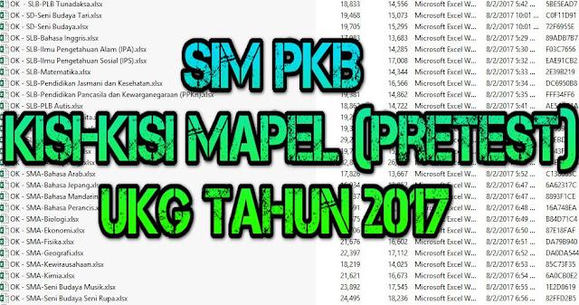 Kisi Kisi Semua Mapel Prestest UKG 2017 Program PKB