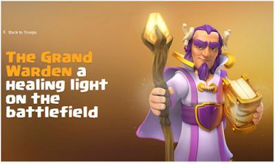 Biaya dan Lamanya Upgrade Grand Warden Level 1-20