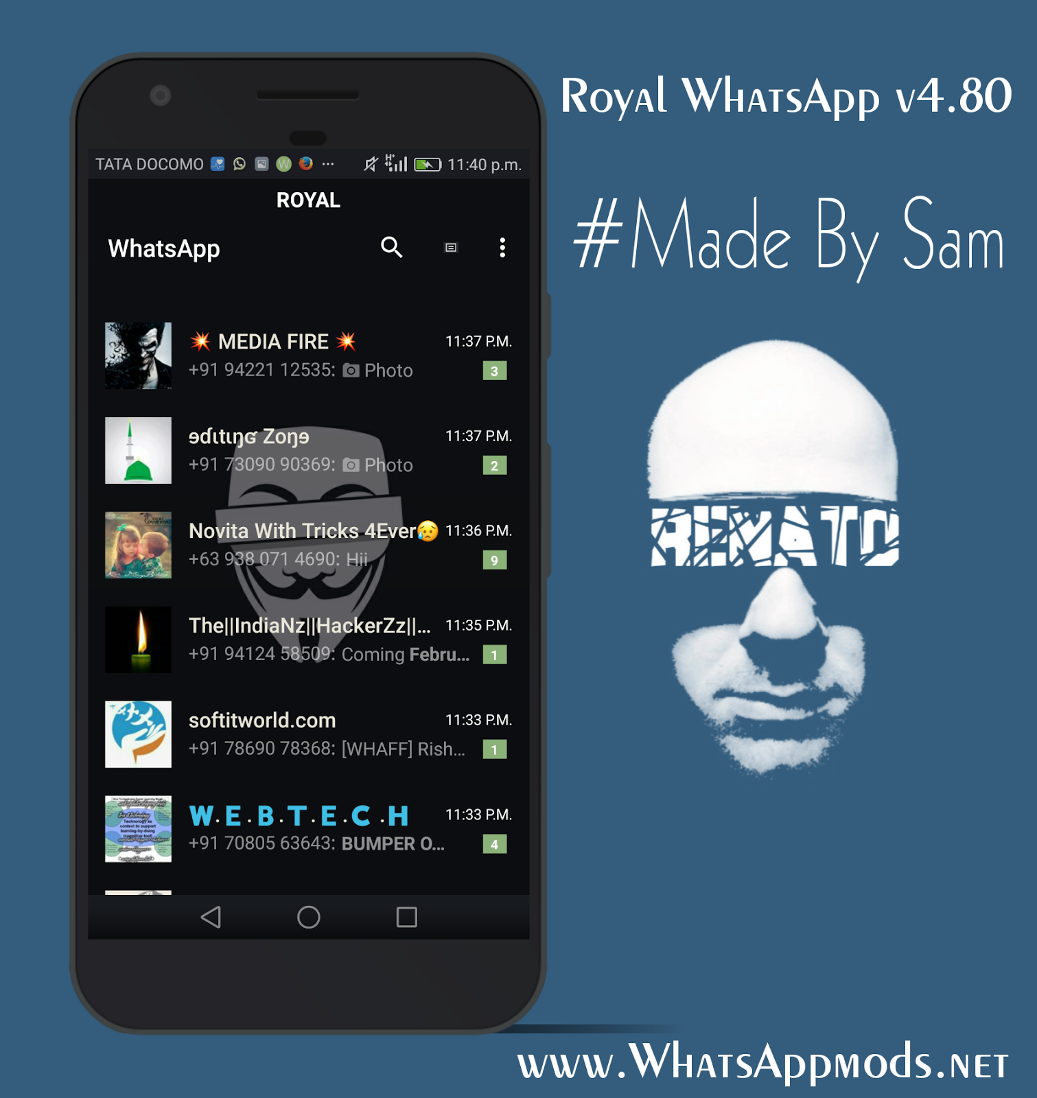 Royal WhatsApp Transparent v4 80 Latests Version Download Now