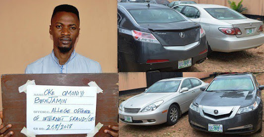 Yahoo Boy Arrested By EFCC, Two Cars Recovered From Him