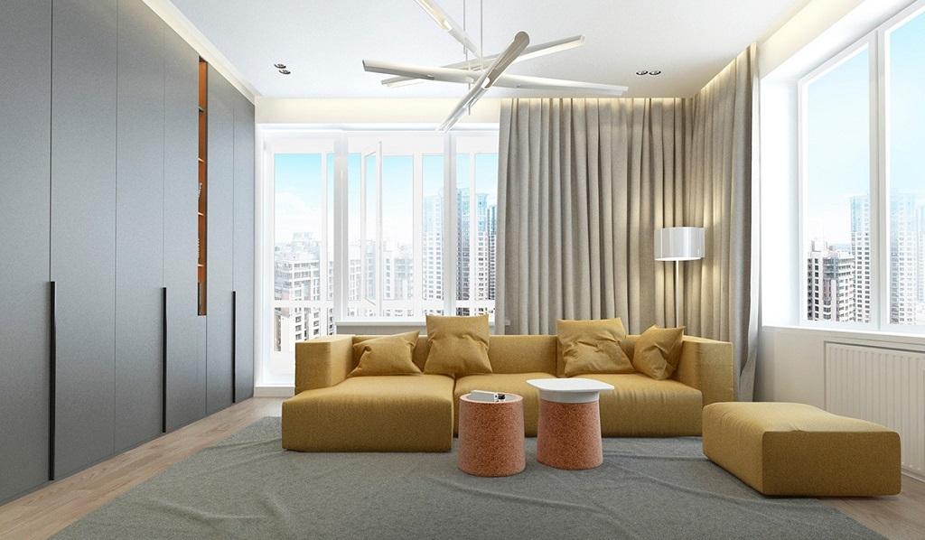 Salas decoradas em amarelo mostarda  Decorao e Ideias