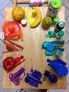 Megan Doing Art: Household Object Color Wheel