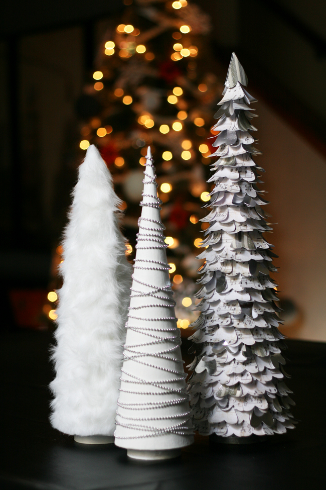 DIY White Christmas Tree Decorations