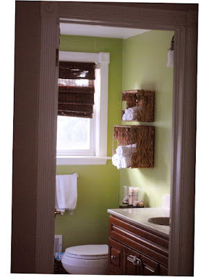 Bathroom Towel Shelf Ideas Green Color for Wall Small Room With Window Photo