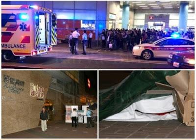 Ibu dan Anak gadisnya bunuh diri di depan Stasiun MTR Hang Hau exit A