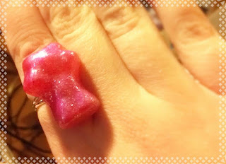 Metallic Pink Gummy Bear Ring