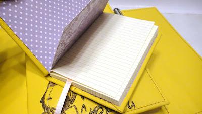 Желтый блокнот ручной работы: записная книжка кожа в линеечку