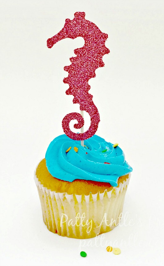 Coastal and Beach Theme Cupcake Toppers