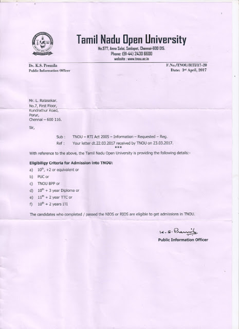 Rural institute of open schooling delhi tamilnadu open university approves rios students for admission to undergraduate courses yadclub Gallery