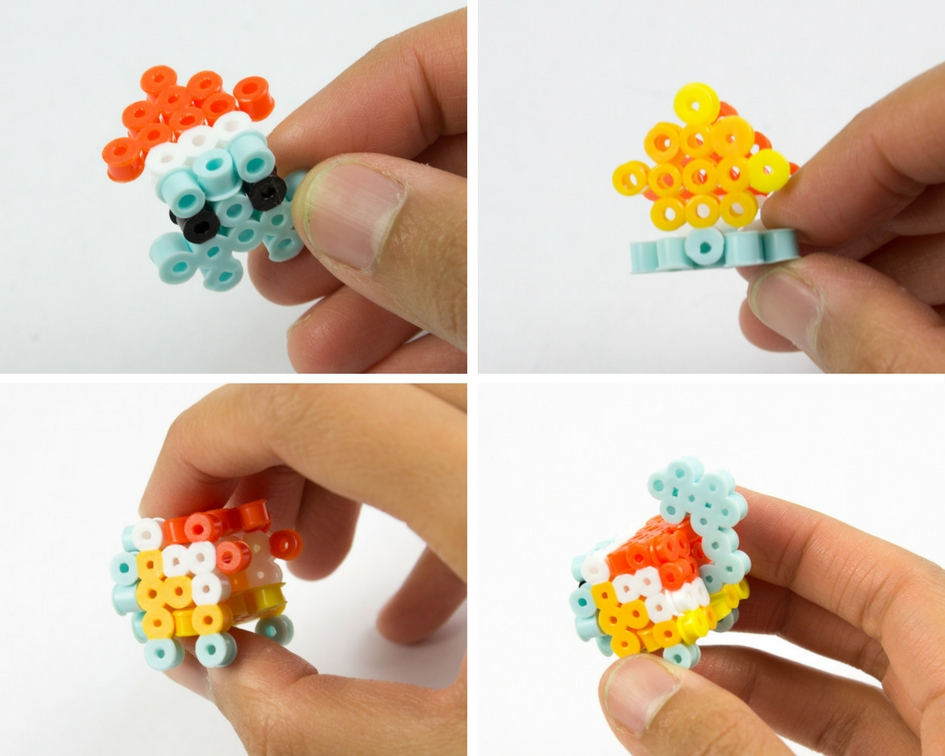 Totally Awesome 3D Perler Bead Pikachu and Squirtle (Free Patterns