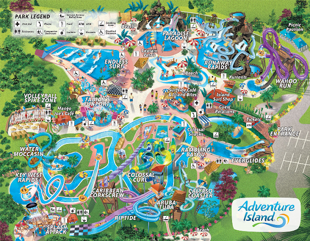 Mapa do Adventure Island em Tampa