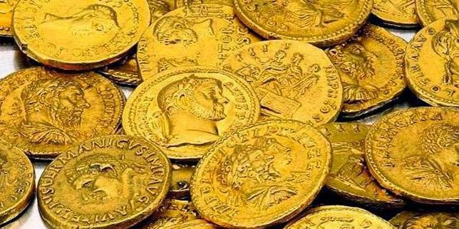 Monedas de oro romanas y el fisco