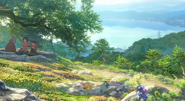 Picnic on journey to the shrine in Kimi no Na wa