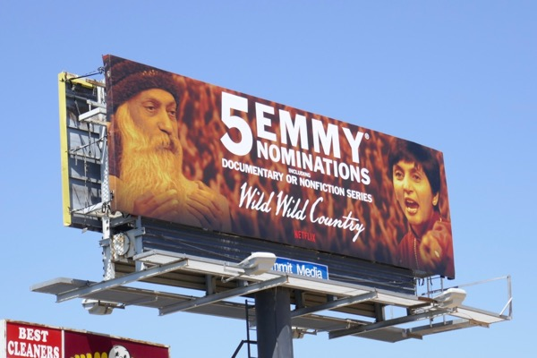 Wild Wild Country 2018 Emmy nominee billboard