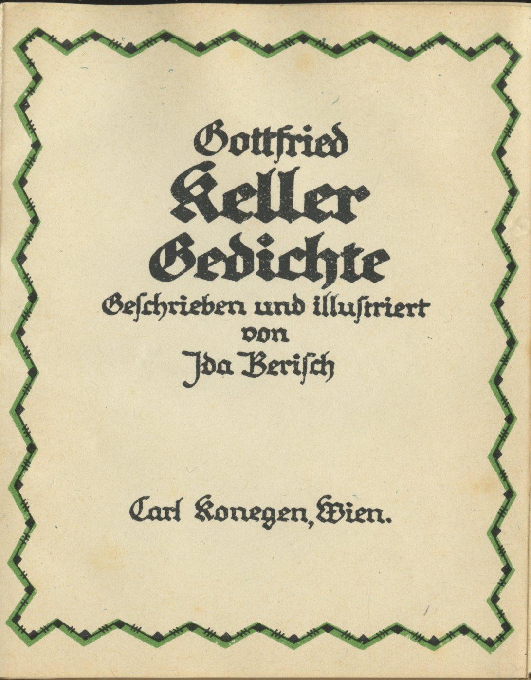 Boekwinkeltje Tureluur Gedichte Van Gottfried Keller