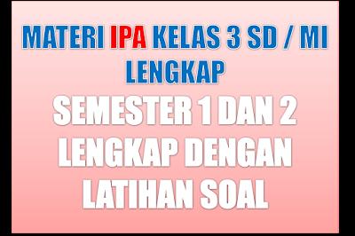 Materi Pelajaran IPA Kelas 3 SD/MI Semester 1/2