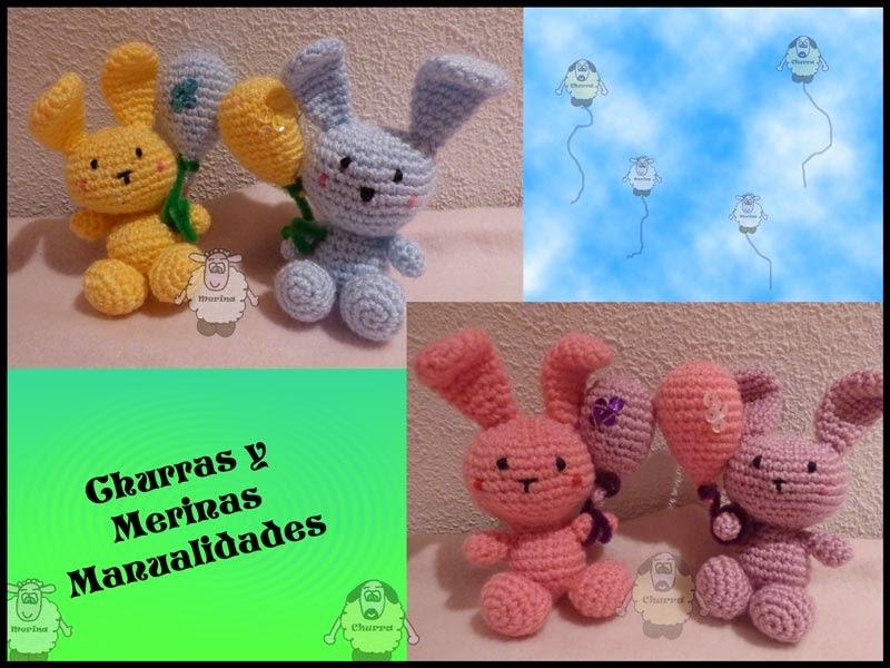 Churras y Merinas Manualidades: Conejitos de Pascua y Globos ...