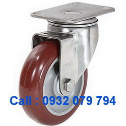 Bánh xe PU đỏ, bánh xe inox 304, bánh xe xoay