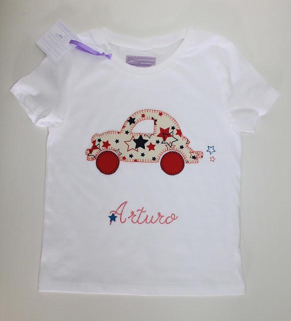 camiseta bebe coche