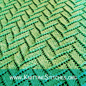 Flemish Block Lace stitch | Knitting Stitch Patterns