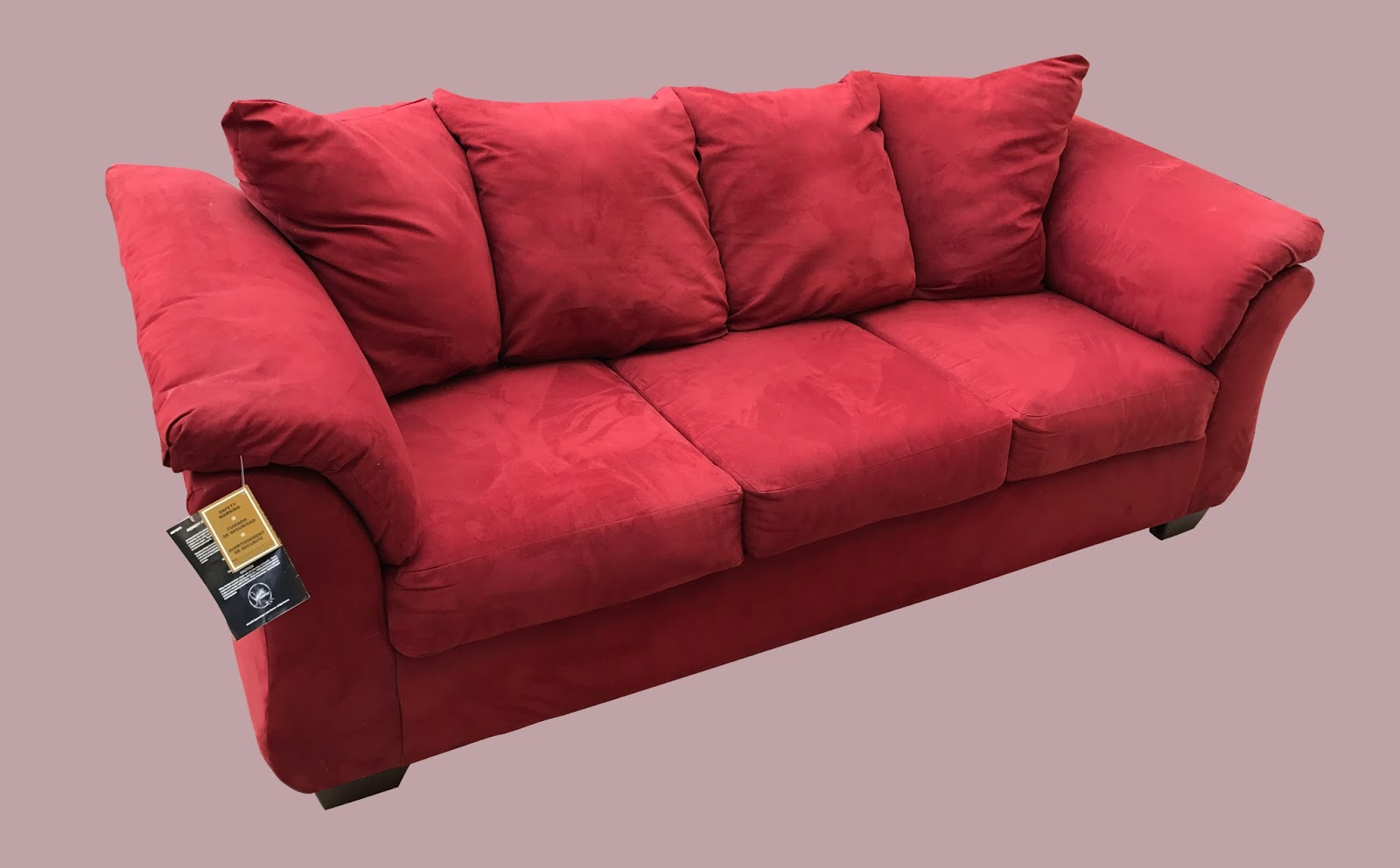 Red Microfiber Reclining Sofa Brown Leather Sectional Clearance Uhuru Furniture And Collectibles 195