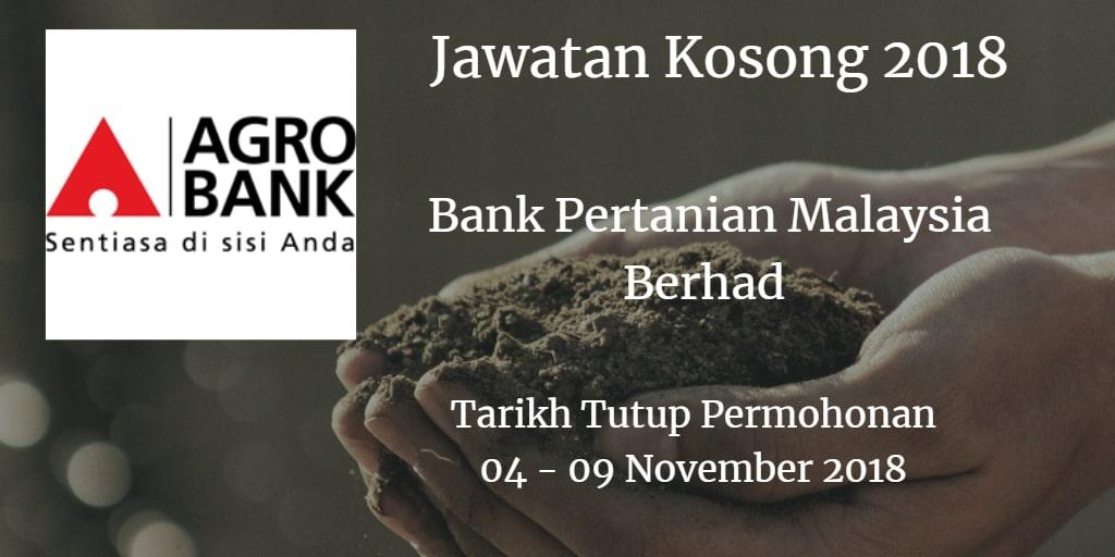 Jawatan Kosong Agrobank 04 - 09 November 2018