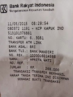 Bukti transfer pembayaran jersey persija home away net tv