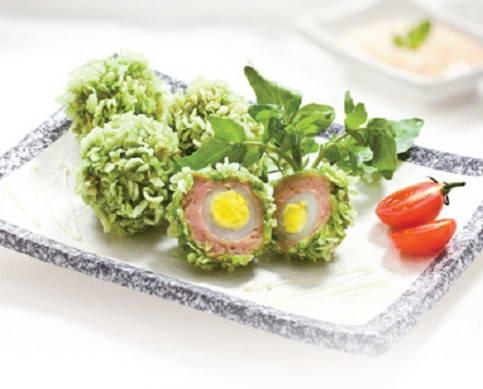 Cách làm Trứng cút chiên cốm xanh ngon