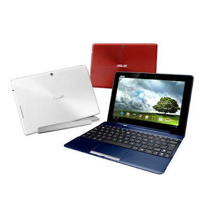 Asus Transformer Pad TF300TG Specifications - LAUNCH Announced 2012 Status Tablet with no support for GSM voice communication DISPLAY Type LED-backlit IPS LCD capacitive touchscreen, 16M colors Size 10.1 inches (~62.2% screen-to-body ratio) Resolution 1280 x 800 pixels (~149 ppi pixel density) Multitouch Yes, up to 10 fingers  - ASUS Waveshare UI BODY Dimensions 263 x 180.8 x 9.9 mm (10.35 x 7.12 x 0.39 in) Weight 635 g (1.40 lb) SIM Yes  - Optional mobile dock with standard QWERTY keyboard and trackpad PLATFORM OS Android OS, v4.0 (Ice Cream Sandwich) CPU Quad-core 1.2 GHz Cortex-A9 Chipset Nvidia Tegra 3 T30L GPU ULP GeForce MEMORY Card slot microSD, up to 32 GB (dedicated slot) Internal 16/32 GB, 1 GB RAM CAMERA Primary 8 MP, autofocus Secondary 1.2 MP Features Geo-tagging Video 1080p NETWORK Technology GSM / HSPA 2G bands GSM 850 / 900 / 1800 / 1900 3G bands HSDPA 850 / 900 / 2100 Speed HSPA 21.1/5.76 Mbps GPRS Yes EDGE Yes COMMS WLAN Wi-Fi 802.11 b/g/n GPS Yes, with A-GPS USB v2.0 Radio No Bluetooth v3.0, EDR FEATURES Sensors Accelerometer, gyro, compass Messaging SMS(threaded view), MMS, Email, Push Email, IM Browser HTML Java No SOUND Alert types Vibration; MP3, WAV ringtones Loudspeaker Yes 3.5mm jack Yes BATTERY  Non-removable Li-Po battery (22 Wh) Stand-by  Talk time Up to 9 h 30 min (multimedia) Music play  MISC Colors Royal Blue, Iceberg White, Torch Red  - HDMI port - MP3/WAV/WMA/AAC player - MP4/H.264 player - Document editor - Photo viewer/editor