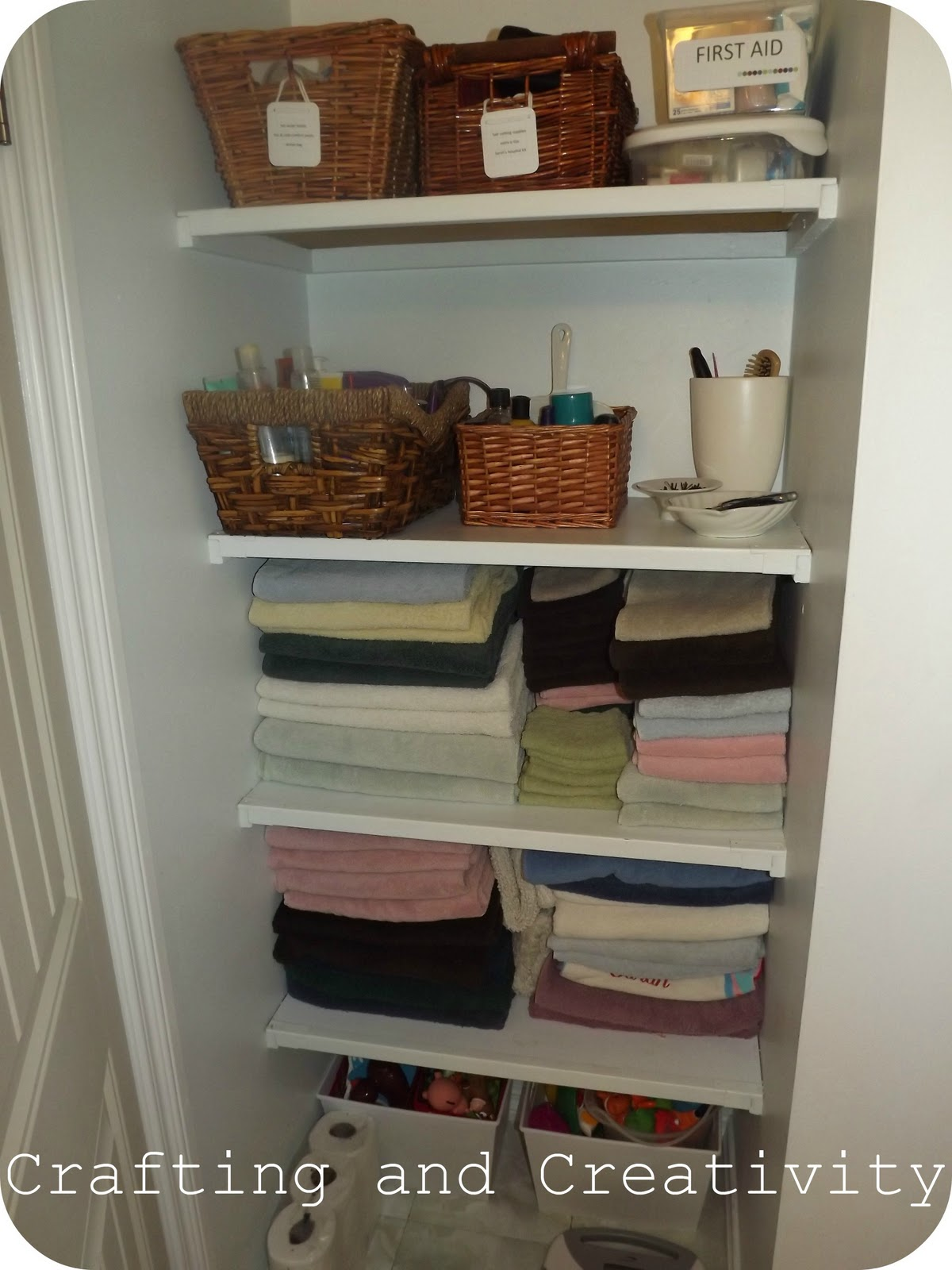Linen Closet Organizer Systems Crafting And Creativity Organize Me Monday 8
