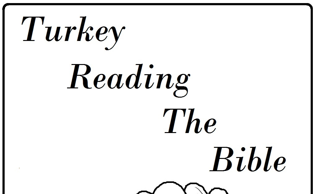 Reading Bible Coloring Page widescreen