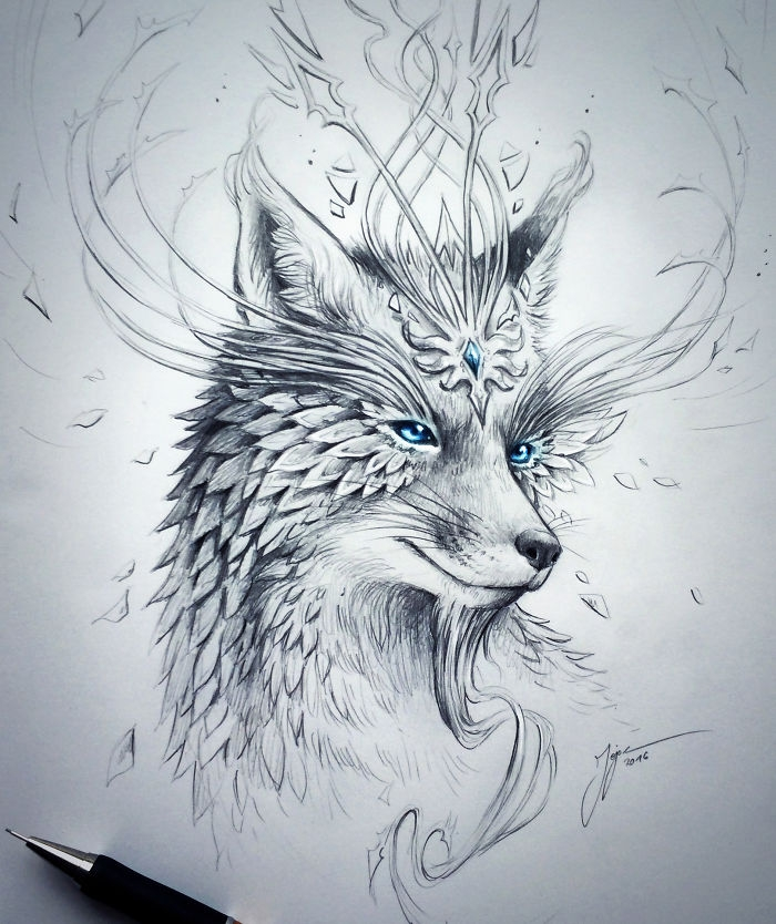 04-Fox-Jonas-Jödicke-jojoesart-Fantasy-Animal-Drawings-with-Souls-of-Nature-www-designstack-co