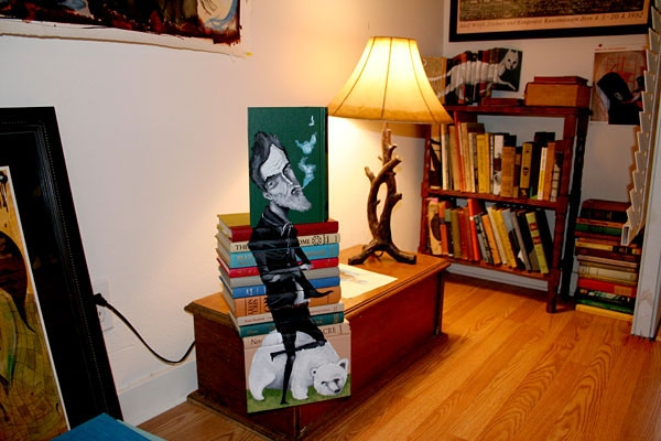 16-Mike-Stilkey-Books-used-as-Canvasses-for-Paintings-www-designstack-co
